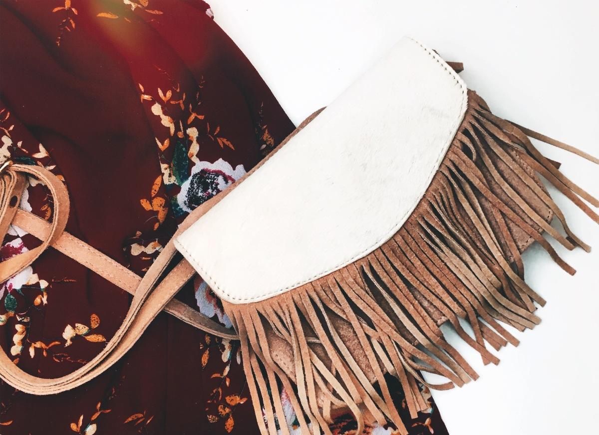 Maxi Dress & Fringebag